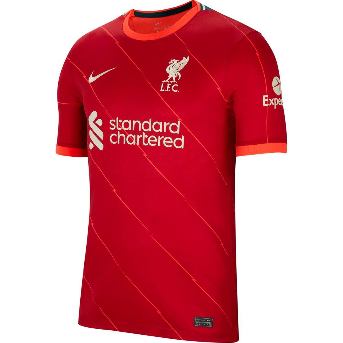 Camisa Nike Liverpool Home 21/22 Torcedor