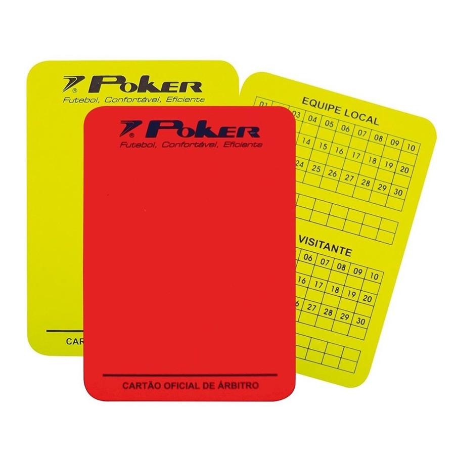 Cartão Poker Para Arbitro Campo