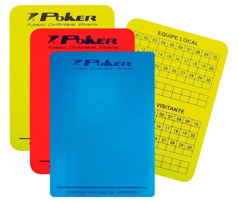 Cartão Poker Para Arbrito Futsal