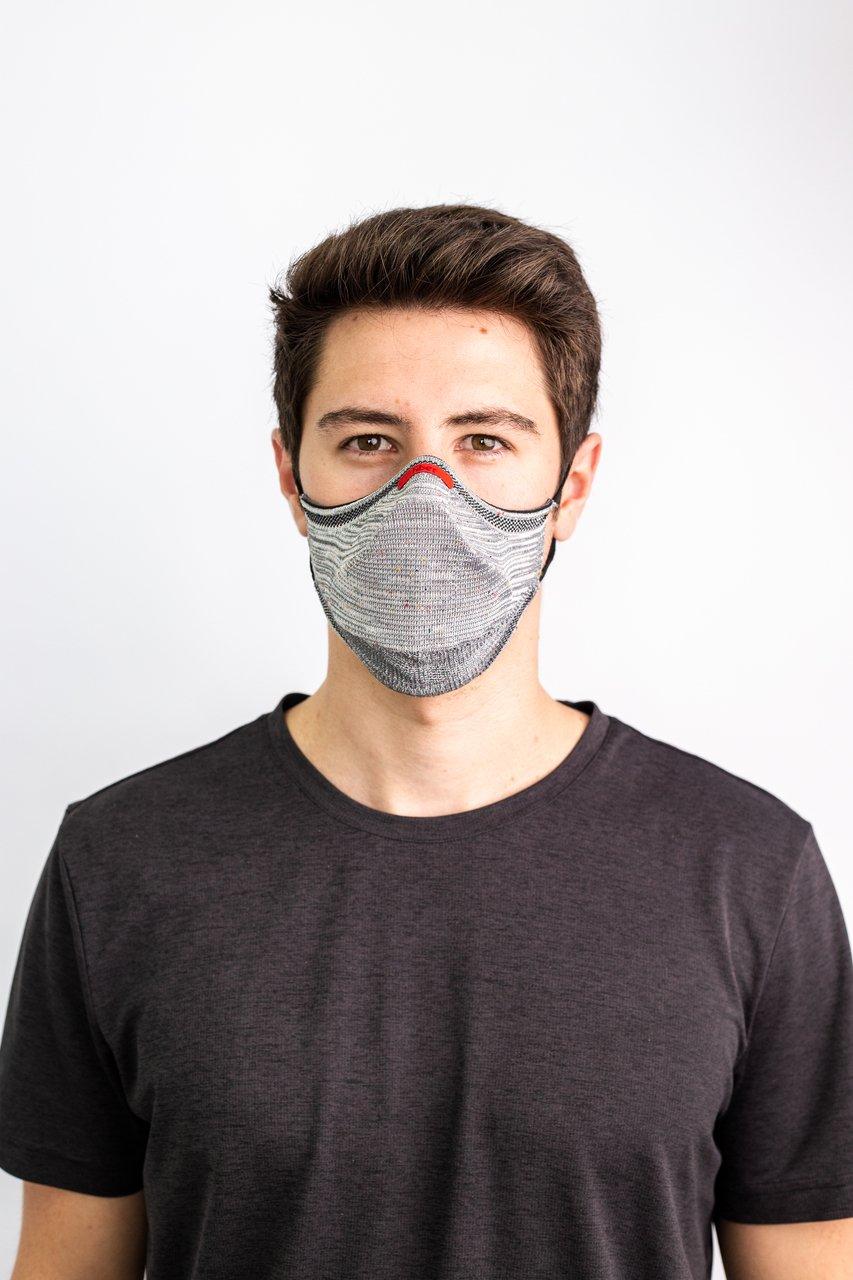 Kit Máscara Fiber Knit AIR + 30 Filtros de Proteção + Suporte