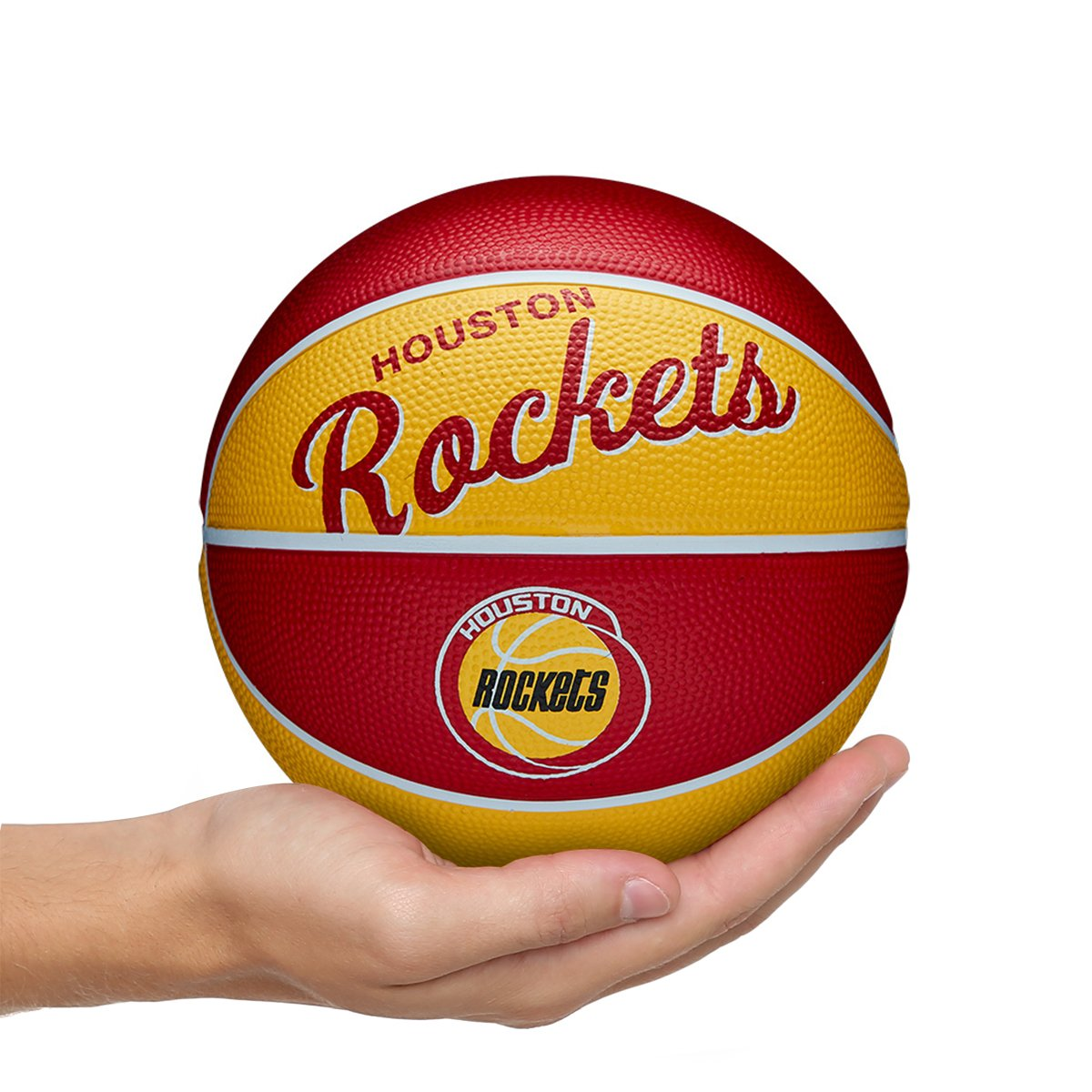 Mini Bola de Basquete NBA Retrô Houston Rockets Wilson