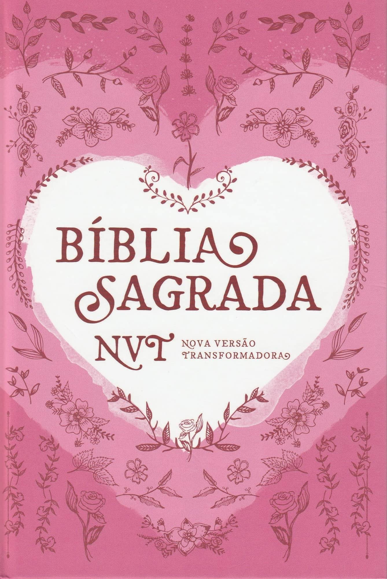 Bíblia NVT - Coração Rosa