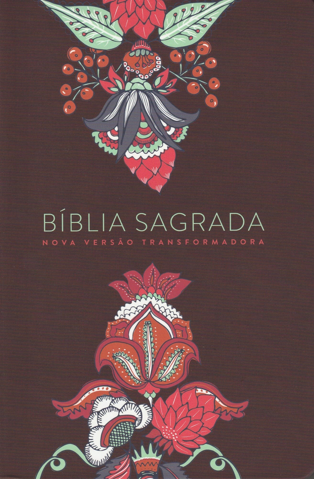 Bíblia NVT - Indian Flowers Vinho (Soft touch - Letra grande)