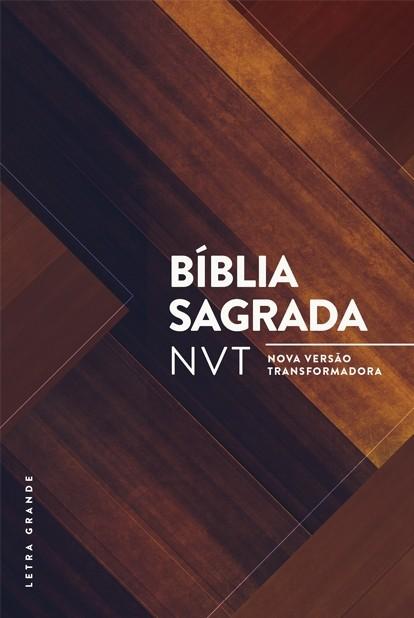 Bíblia NVT - Madeira triângulos (Letra grande/capa dura)