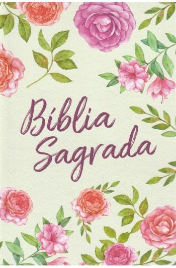 Bíblia NVT - Textura Floral (Soft touch - Letra grande)