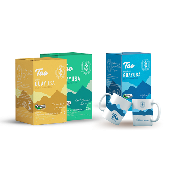 2 Caixas Chá de Guayusa Sabores  + Guayusa Original e Caneca TAO GRATÍS