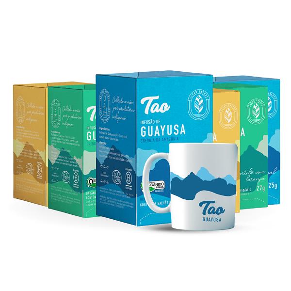 Linha Chá de Guayusa - 6 unidades + Caneca TAO