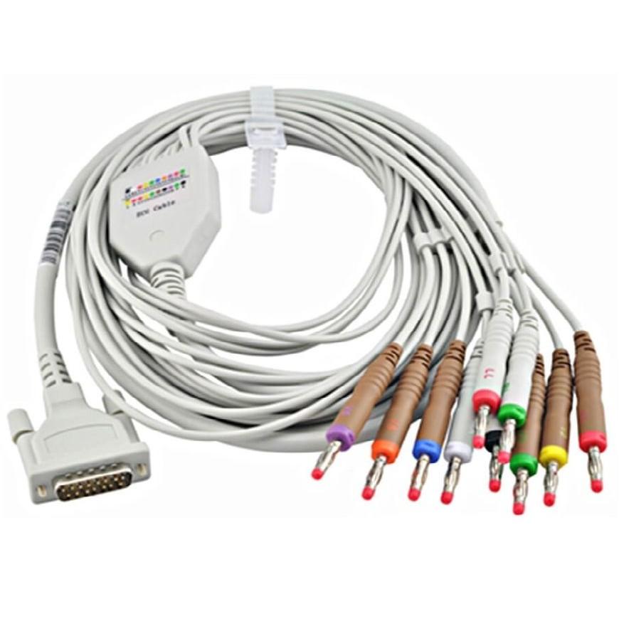 Cabo Paciente 10 Vias Original P/ Eletrocardiógrafo EX01 / EX03 - Emai