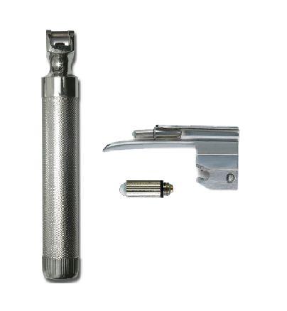 Kit Laringoscópio convencional Aço Inox Nº0 Recém Nascido Lâmina Reta LED - Missouri