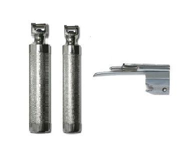 KIT Laringoscópio Fibra Ótica c/ 2 Cabos p/ Pilha e 1 Lâmina Tipo Muller p/ Recém Nascido - Missouri