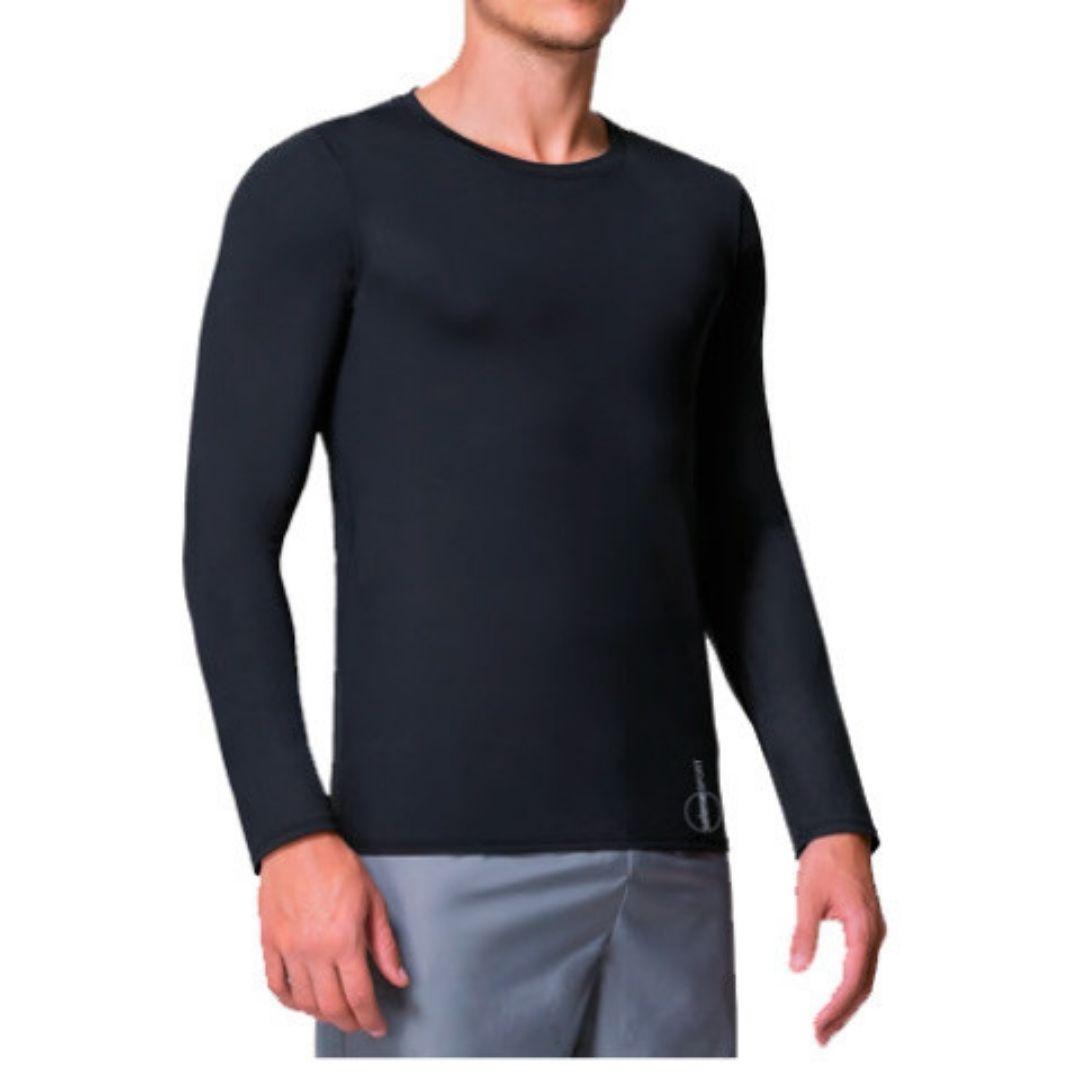 Camiseta De Manga Longa, Com Proteção Uv Maculina