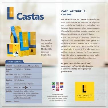 Café Castas Cápsulas | Cartucho 10 cápsulas - compatível Nespresso
