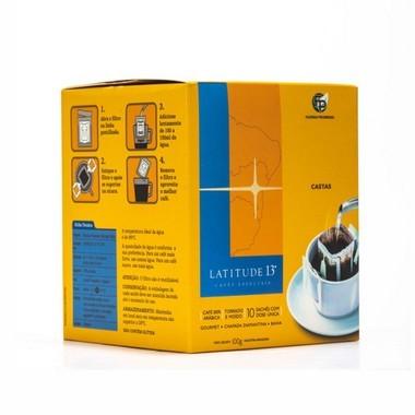 Café Latitude 13 - Castas Drip Coffee - Caixa 10 Sachês (100g)