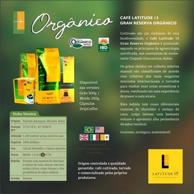 Café Orgânico Cápsulas   Cartucho 10 cápsulas - compatível Nespresso