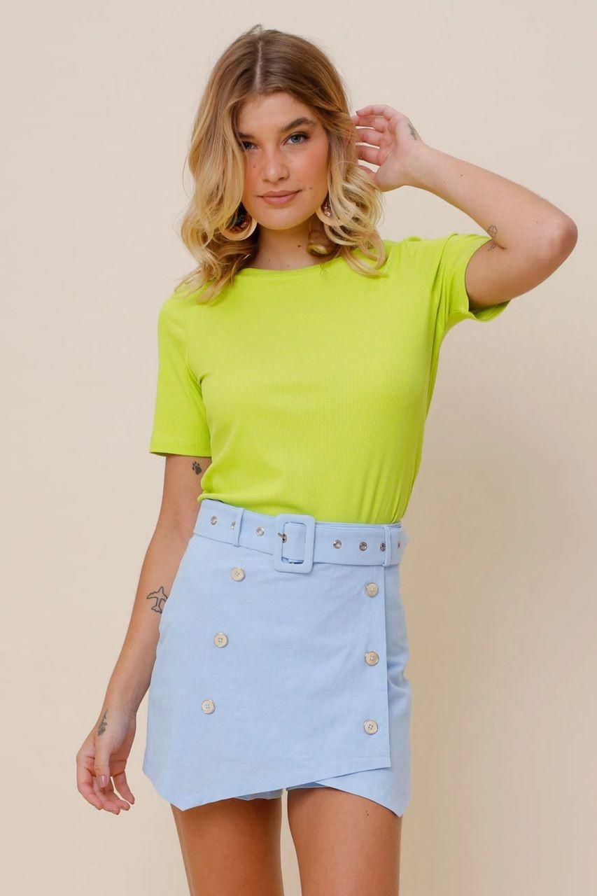 Blusa Canelada Basic Lisa