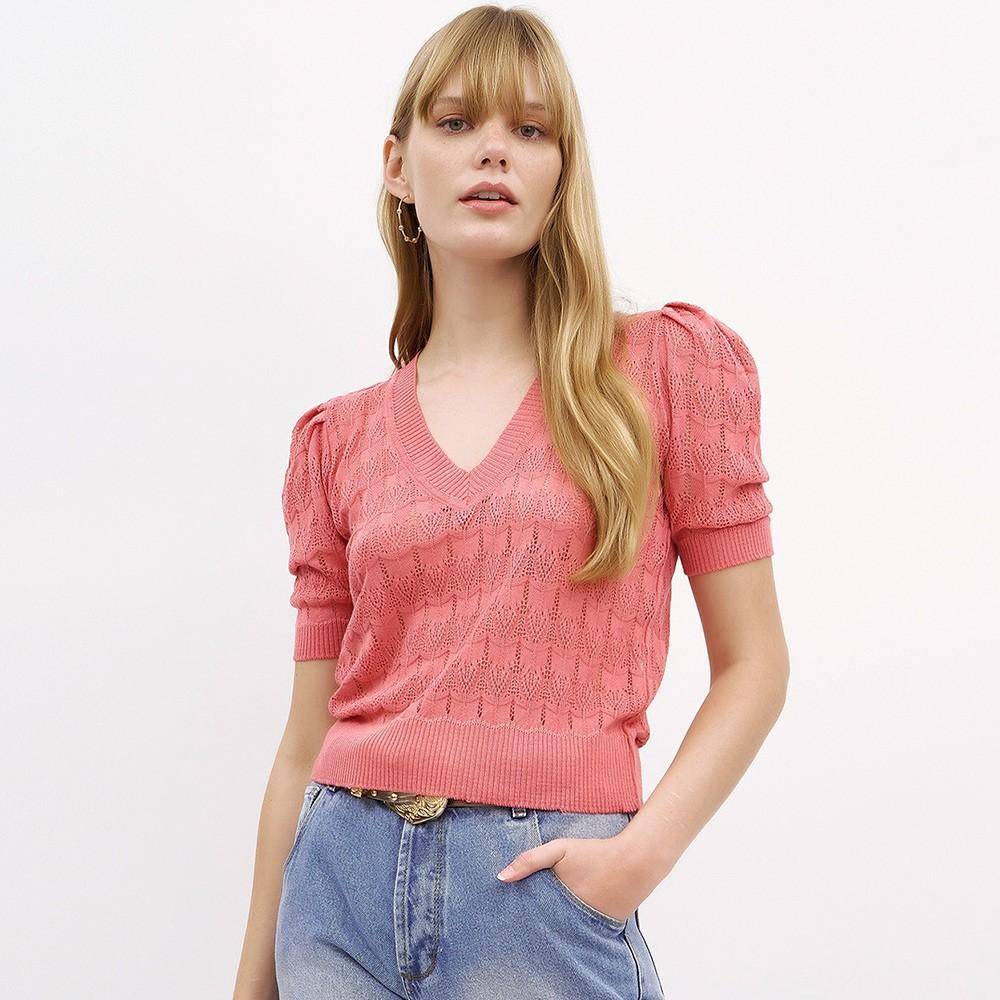 Blusa Pietra Tricot Rosê