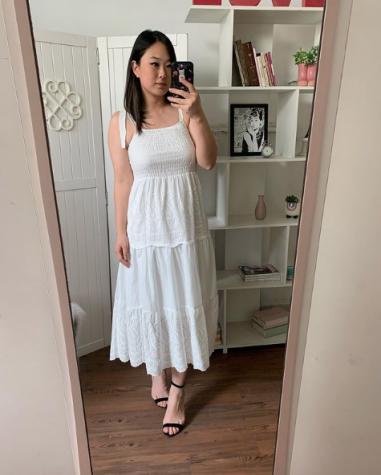Vestido Midi Laise Off White