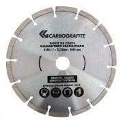 Disco de Corte CARBOGRAFITE Diamantado 180mm x 7mm x 22,23mm