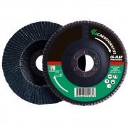 Disco Flap CARBOGRAFITE Zircônio Profissional - Fibra Cônico - 180mm - Grão 60