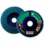 Disco Flap CARBOGRAFITE Zircônio Profissional - Nylon Reto - 180mm - Grão 60