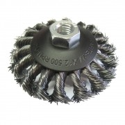 Escova de Aço CARBOGRAFITE Cônica Trançada - 12500 Rotação (rpm)