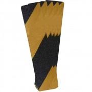 Fita Antiderrapante CARBOGRAFITE Preta e Amarela - Blister com 5 folhas