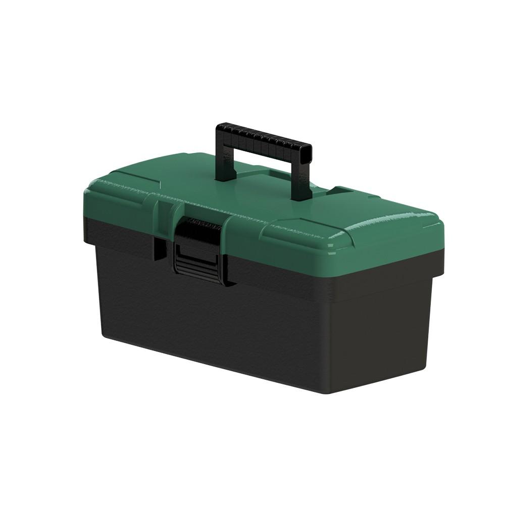 """Caixa Porta Ferramentas CARBOGRAFITE com Bandeja 14"""" - 36.0 x 19 x 17cm"""
