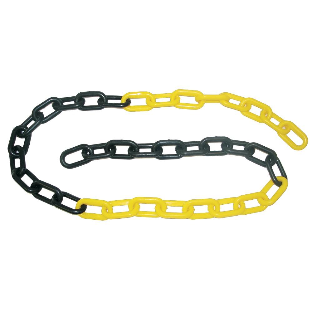 Corrente Plástica CARBOGRAFITE Preta/Amarela 6mm - 10 metros