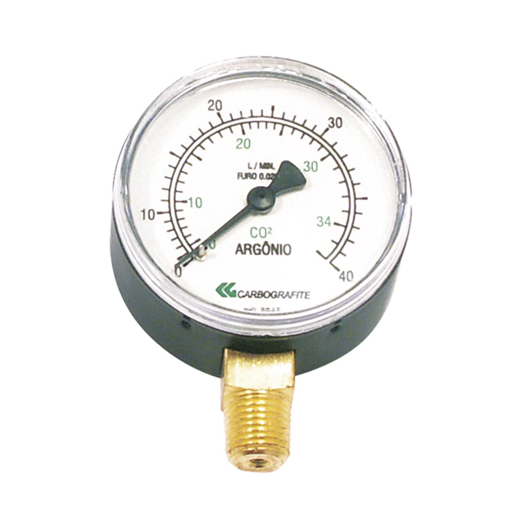 MANOMETRO BP ARG/CO2 0-40LTS