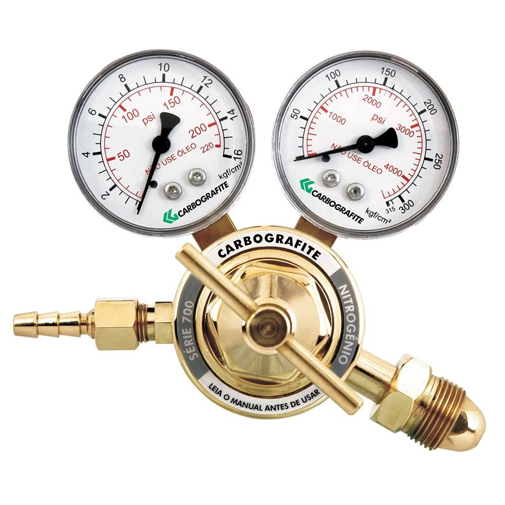 Regulador de Pressão CARBOGRAFITE - Série 700 Cilindro Nitrogênio