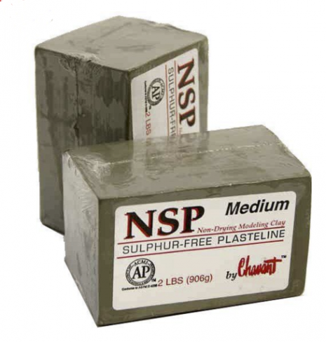 Clay Chavant NSP Medium Cinza para modelagem