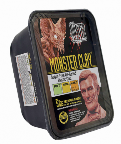 Monster Clay Marrom Soft