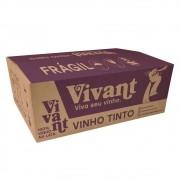 Caixa com 24 Vinhos Tintos em Lata Vivant Wines 269ml