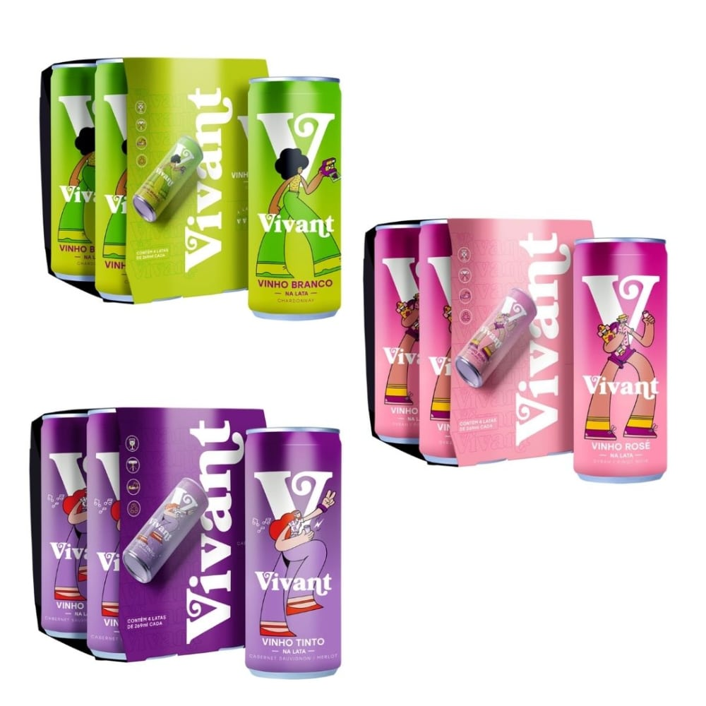 Kit Vivant de 1 Pack com 4 Un de cada Vinho