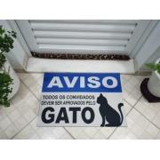 TAPETE CAPACHO BEM VINDO CAT 60X40