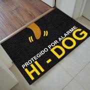 TAPETE CAPACHO DIVERTIDO 'PROTEGIDO POR ALARME HI-DOG'