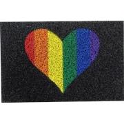TAPETE CAPACHO MEU CORAÇÃO É LGBTQ+
