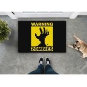 TAPETE CAPACHO WARNING ZOMBIES