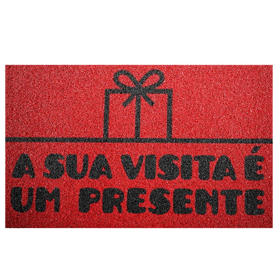 Tapete Capacho 'A Sua Visita É Um Presente'