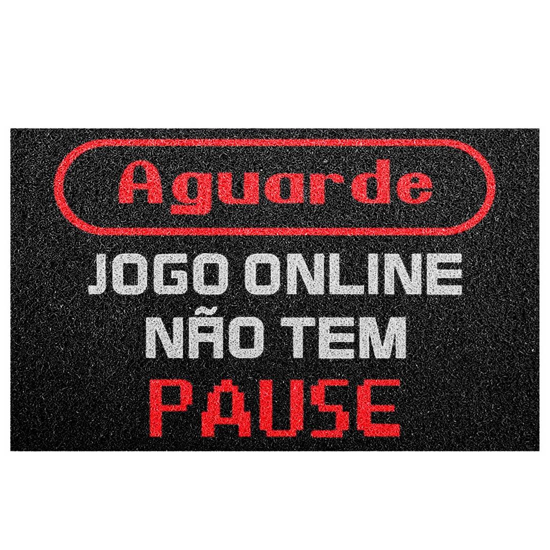 Tapete Capacho Aguarde Jogo Online Não Tem Pause
