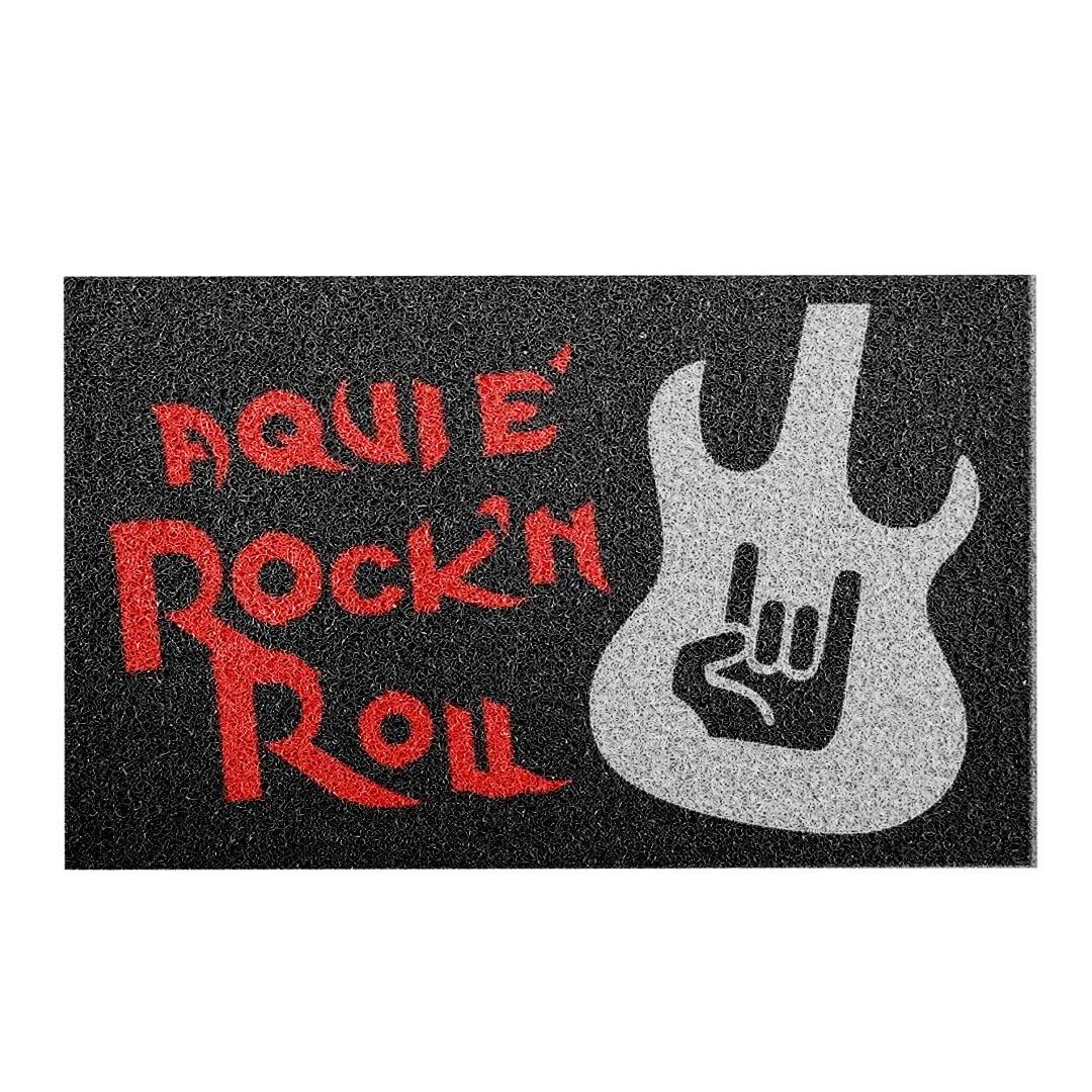 Tapete Capacho 'Aqui É Rock In Roll'