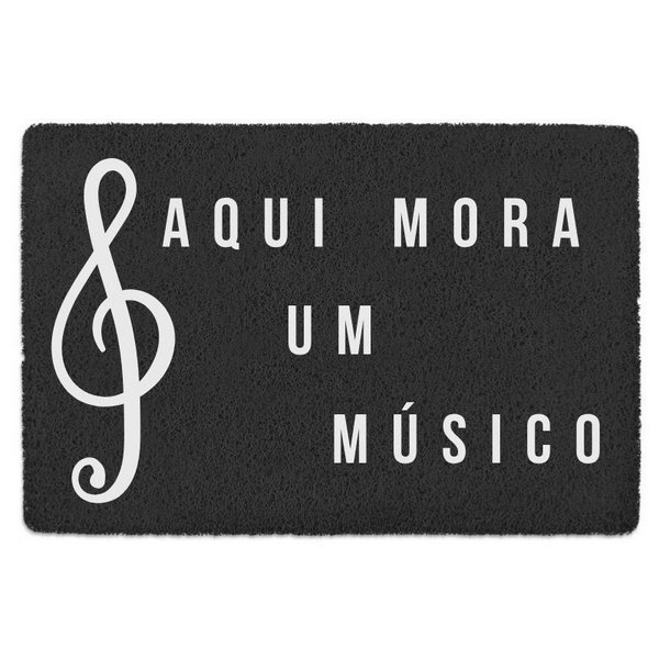 TAPETE CAPACHO 'AQUI MORA UM MUSICO'