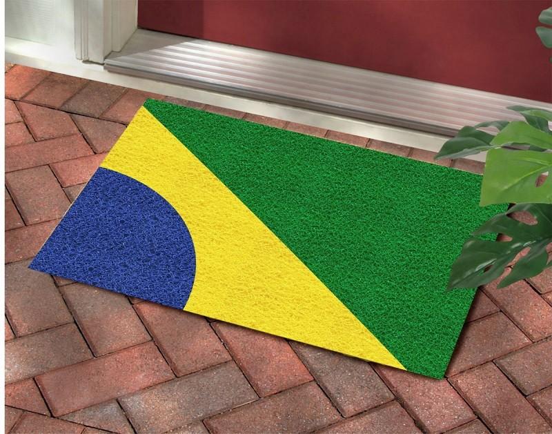 Tapete Capacho Bandeira Do Brasil