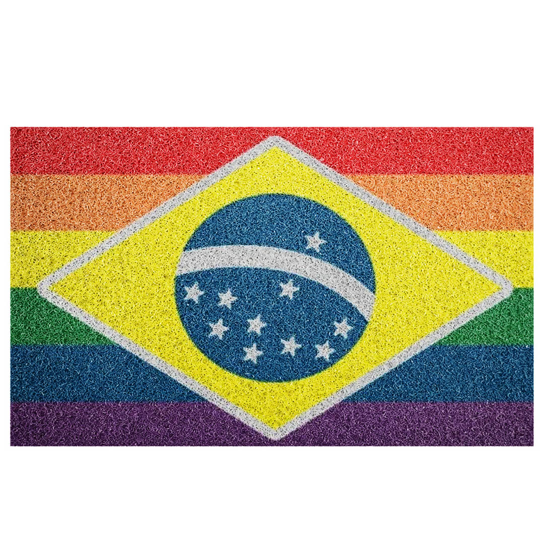 Tapete Capacho Bandeira  Lgbtq+ Brasil