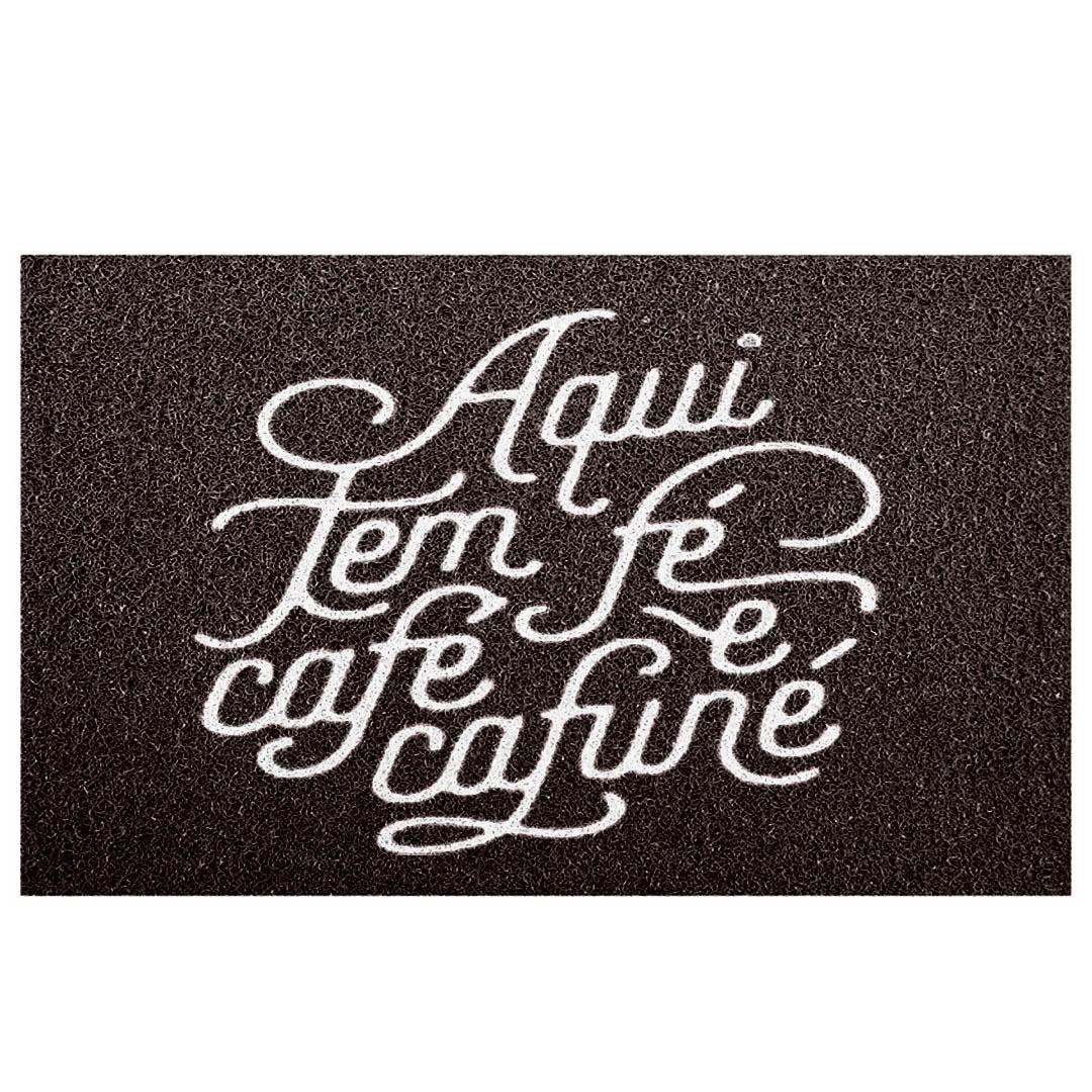 Tapete Capacho Bem Vindo Aqui Tem Café E Cafuné