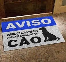 TAPETE CAPACHO BEM VINDO CÃO 60X40