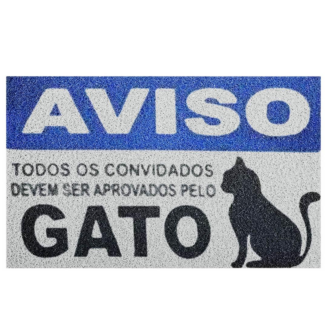 Tapete Capacho Bem Vindo Cat