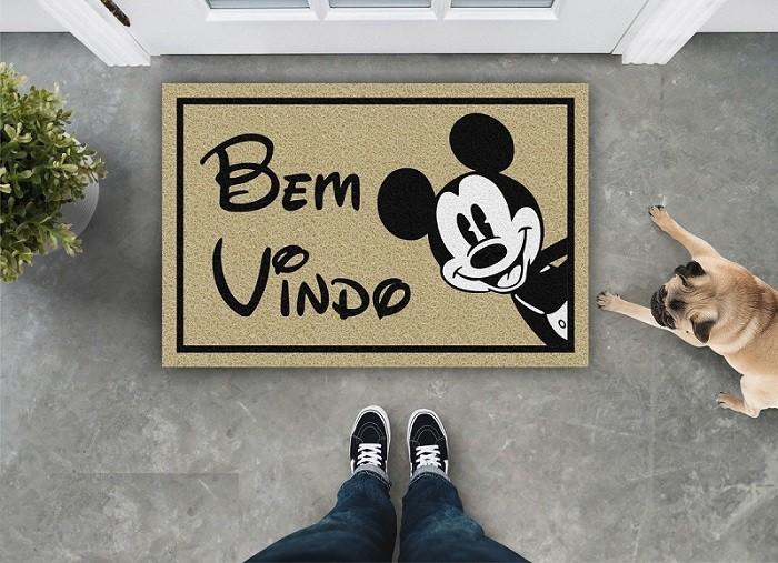 Tapete Capacho Bem Vindo Disney