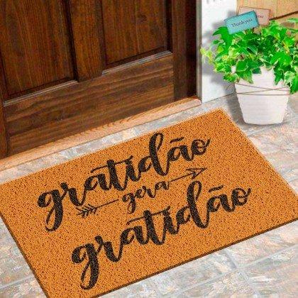 Tapete Capacho Bem Vindo 'Gratidão'