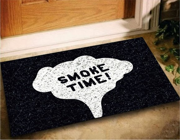 Tapete Capacho Bem Vindo Smoke Time